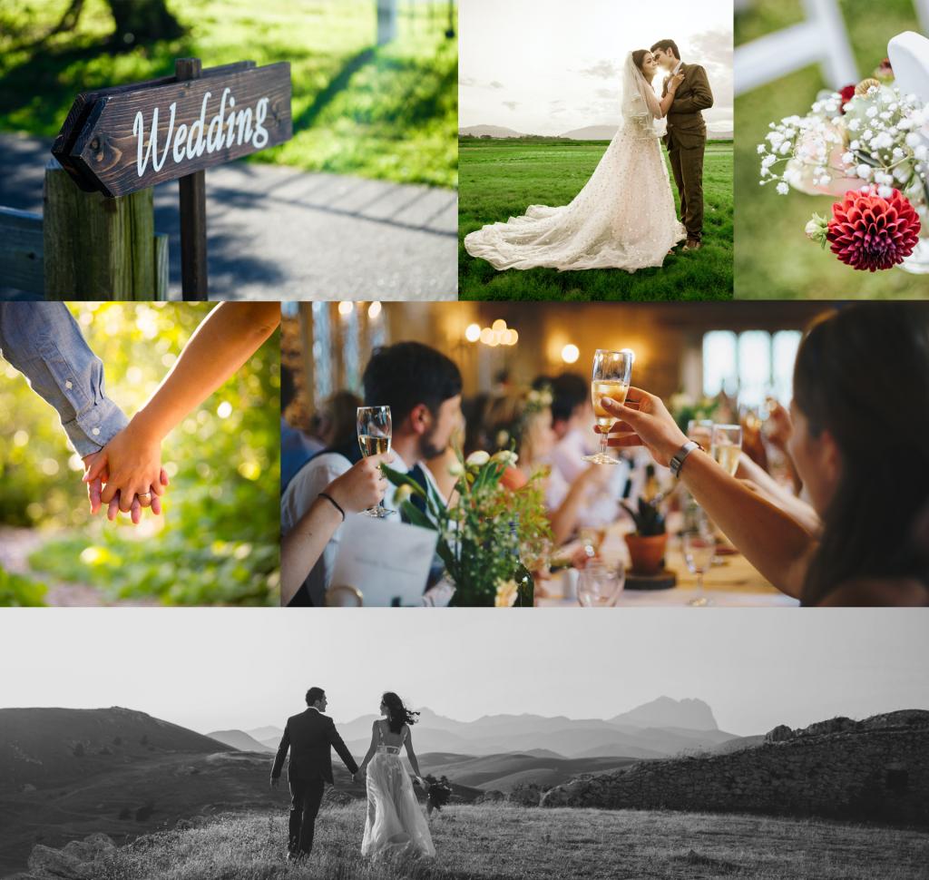 Wedding collage at The Siren El Chorro
